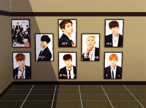 Custom Kpop Bts 1 kpop bts paintings darkiie sims