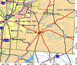 Xenia Ohio Map by Xenia Ohio Oh 45385 Profile Population Maps Real