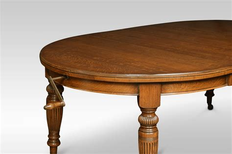 Oak Oval Dining Table Oak Oval Extending Dining Table Antiques Atlas