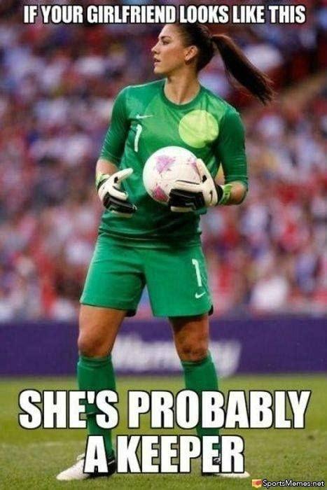 Hope Solo Memes - girl goalie meme