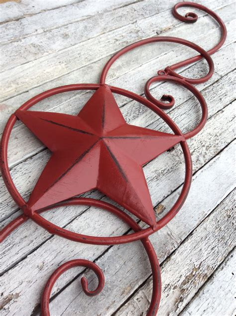 star home decor metal star wall decor red home decor texas star by