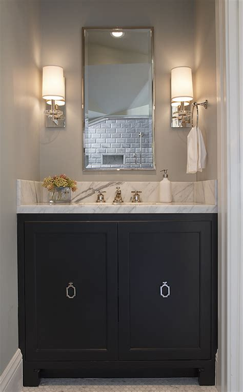 Bathroom Vanity Pulls Black Bathroom Vanity With Ring Pulls Transitional Bathroom Artistic Designs For Living
