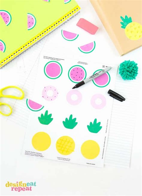 printable notebook stickers back to school printable notebook stickers
