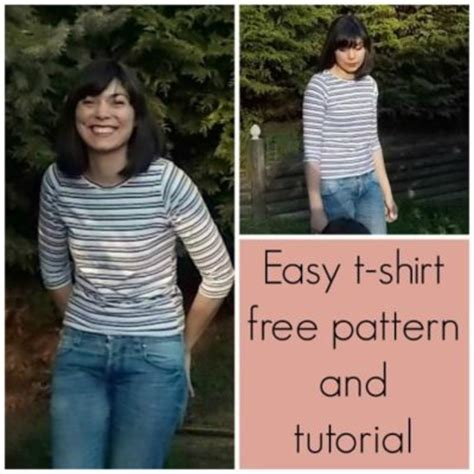 easy t shirt pattern free free sewing pattern easy t shirt for women on the