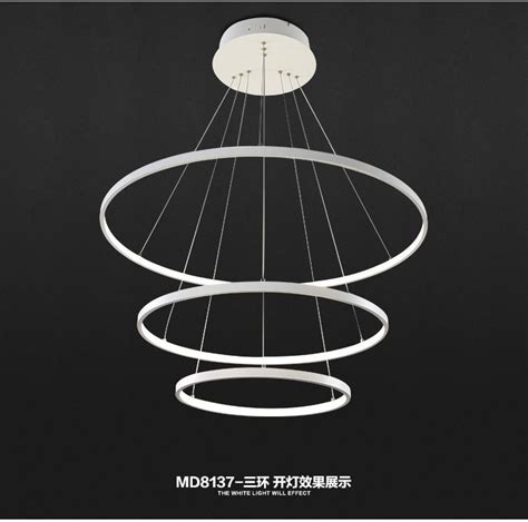 Circle Chandelier Light Fashional Dinning Room Modern Chandeliers Circle Rings Led