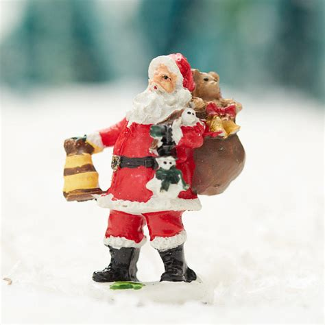 miniature santa claus village figurine miniatures sale