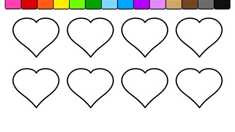 coloring hearts learn colors for and color hearts coloring page