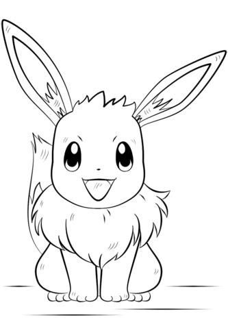 eevee pokemon kleurplaat pokemon pinterest