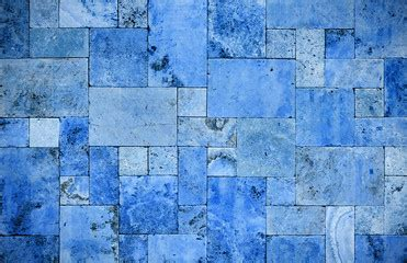 dubai print sticker stone blue wall brick dubai shop