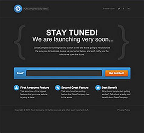 Landing Pages Archives Unbounce Coming Soon Landing Page Template