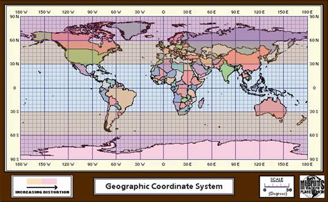 coordinates map map coordinate systems world map 07