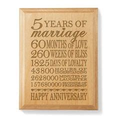 Wedding Anniversary Message 5 Years by Anniversary Gift For Husband 5 Year Anniversary Gift It