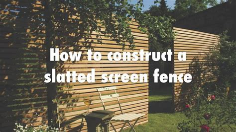 construct  slatted screen horizontal fence youtube