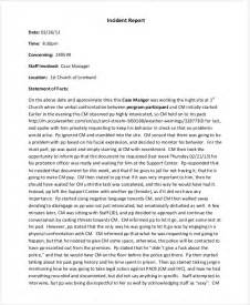 Business Letter Incident Report 33 Report Templates Free Premium Templates