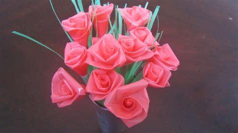 cara membuat bunga dari kertas atau plastik kerajinan tangan dari barang bekas yang mudah dibuat