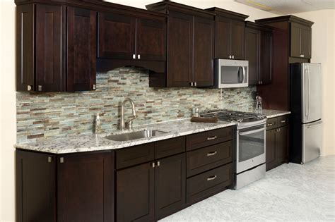 Kitchen Cabinet Bargains Espresso Kitchen Cabinets In 9 Sleek And Premium Style Homeideasblog