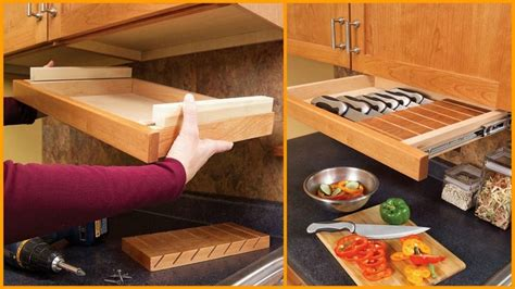 diy under cabinet storage easy diy kitchen storage ideas