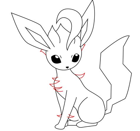 pokemon coloring pages of leafeon leafeon coloring pages
