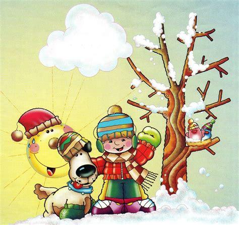 imagenes de invierno caricatura el invierno dibujos para colorear