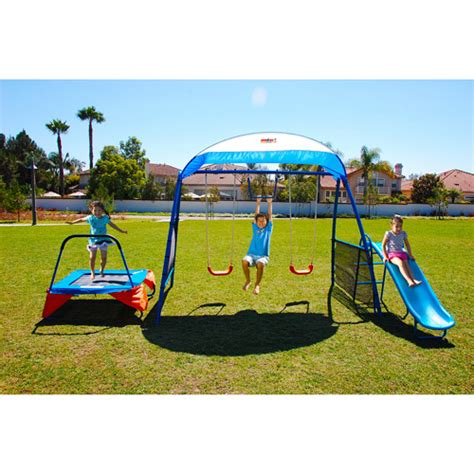 walmart outdoor swing sets ironkids inspiration 250 fitness playground metal swing