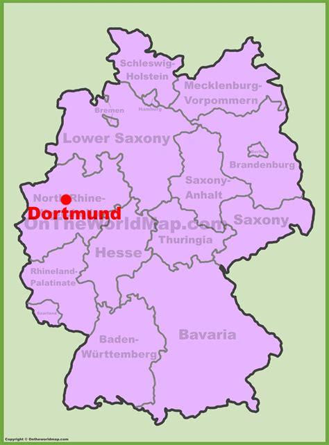 dortmund map of germany dortmund location on the germany map