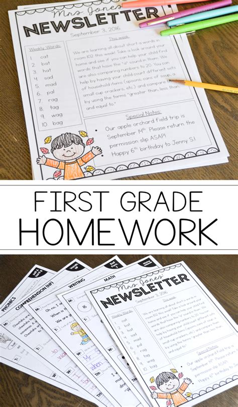 Writing Homework For Grade by Grade Homework For The Entire Year Susan Jones