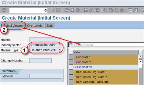 sap tutorial guru99 sap sd create material master data