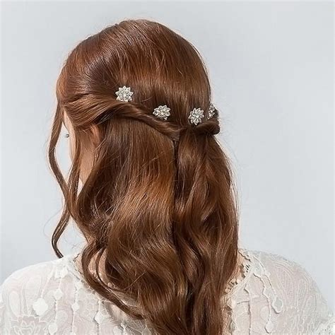 Wedding Hair With Pin by Buy Bridal Flower Pins Hair Accessory Emmy