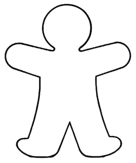 Printable Outline Of Person Clipart Best Person Template For Kindergarten