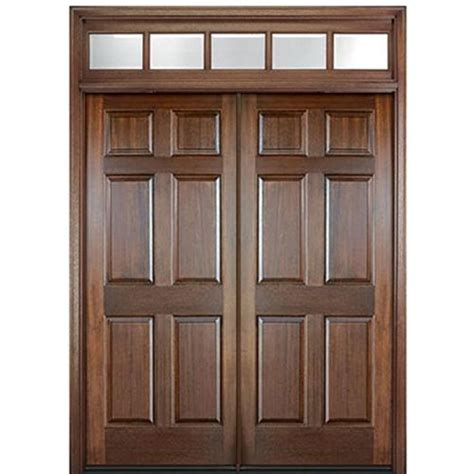 mai doors hi33 2 t mahogany 6 panel exterior door