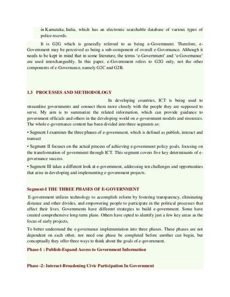 E Governance Essay In by E Governance In India Research Paper Othello Tragedy Essay Titles For Social Media
