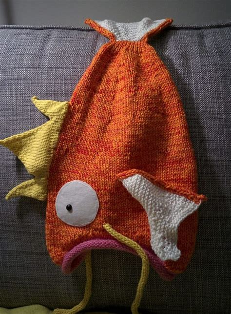 knitting pattern queries free knitting pattern for magikarp go hat crochet and knit