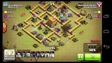layout cv 6 guerra youtube clash of clans cv 6 layout para guerra de clans youtube