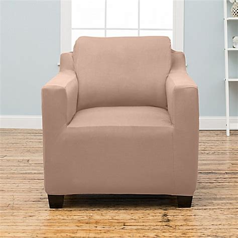 stretch fit slipcovers stretch fit protective twill chair slipcover bed bath
