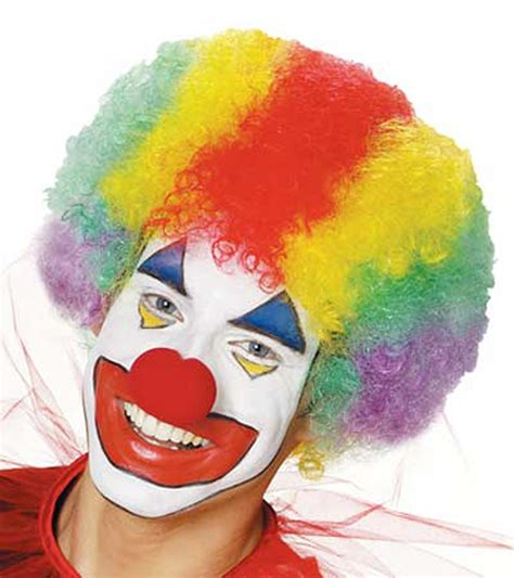 colored clown clown multi colored costume wig 6573030 911 costume911