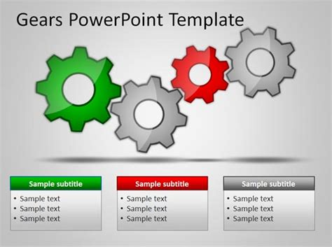 how to use a powerpoint template free gears powerpoint templates for presentations
