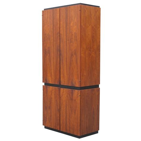 mid century armoire barzilay mid century walnut armoire at 1stdibs