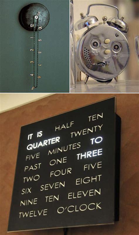weird clock 10 cool and weird clock designs for geeks techeblog