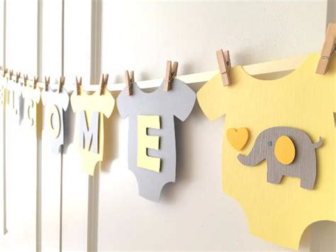 baby shower decor welcome home baby banner and garland set winnie the pooh decor baby shower baby one piece bodysut welcome baby gender neutral