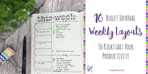 best layout for journal 10 weekly bullet journal layouts to kickstart your