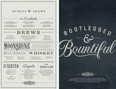 beautiful menu moonshine menus based design studio make has created