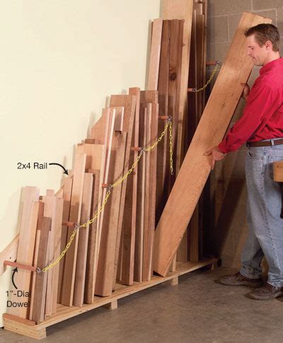 Vertical Lumber Storage Rack Plans by Vertical Lumber Organizer Woodworking Shop Woodworking