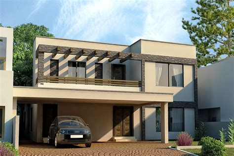 modern house front design 3d front elevation com dha lahore 1 kanal modern contemporary house design 3d front