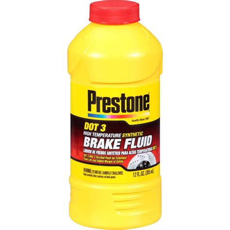 Minyak Rem Brake Fluid Prestone Clear Dot 4 50ml 1 prestone 12 oz dot 3 brake fluid as400y 6 the home depot