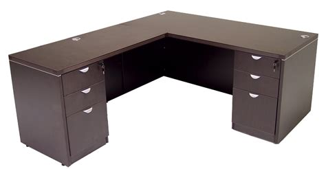L Shaped Desk With Drawers by Glass Front Mocha Conference Desk