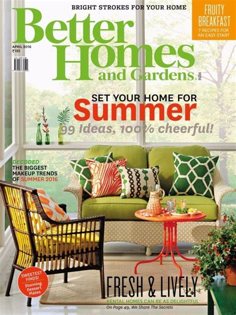 april 2016 issue better homes and gardens