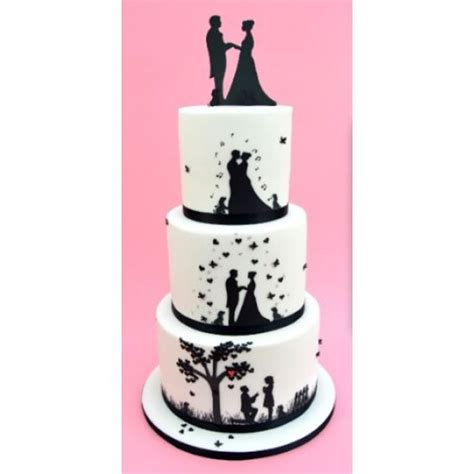 Cake Patchwork Cutters - wedding silhouette set silhouette wedding cake cutters