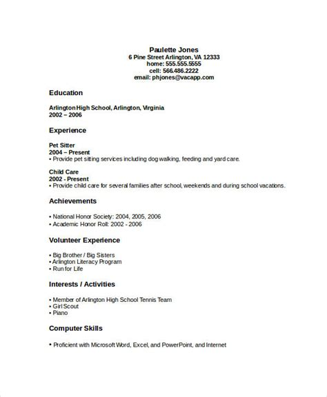 high school graduate resume template resume templates 35 free word pdf document