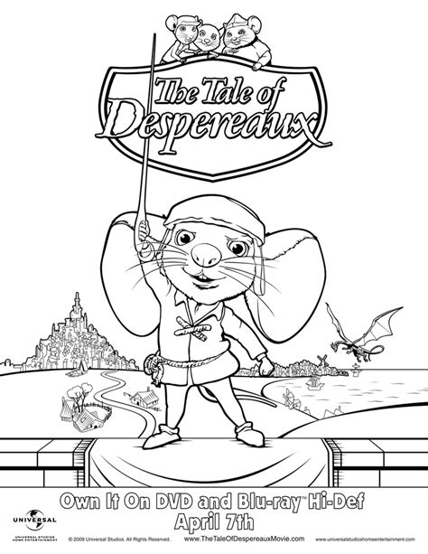 tale of despereaux coloring pages