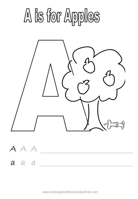 Kindergarten Letter Worksheets by Handwriting Worksheets